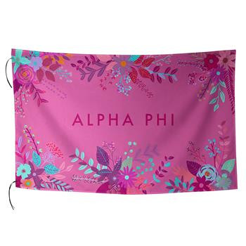 Alpha Phi Sorority Floral Flag-Style 2