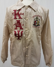 Kappa Alpha Psi Fraternity Line Jacket- Cream