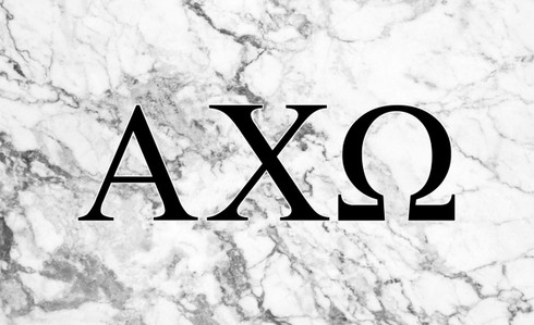 Alpha Chi Omega Sorority Flag- Marble