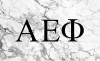 Alpha Epsilon Phi AEPHI Sorority Flag- Marble