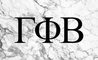 Gamma Phi Beta Sorority Flag- Marble