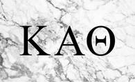 Kappa Alpha Theta Sorority Flag- Marble