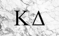 Kappa Delta Sorority Flag- Marble