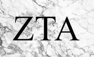 Zeta Tau Alpha ZTA Sorority Flag- Marble