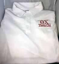 Theta Chi Fraternity Dri-Fit Polo- White
