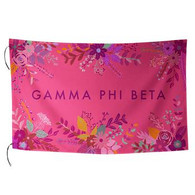 Gamma Phi Beta Sorority Floral Flag-Style 2