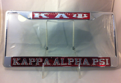 Kappa Alpha Psi Three Greek Letter License Plate Frame