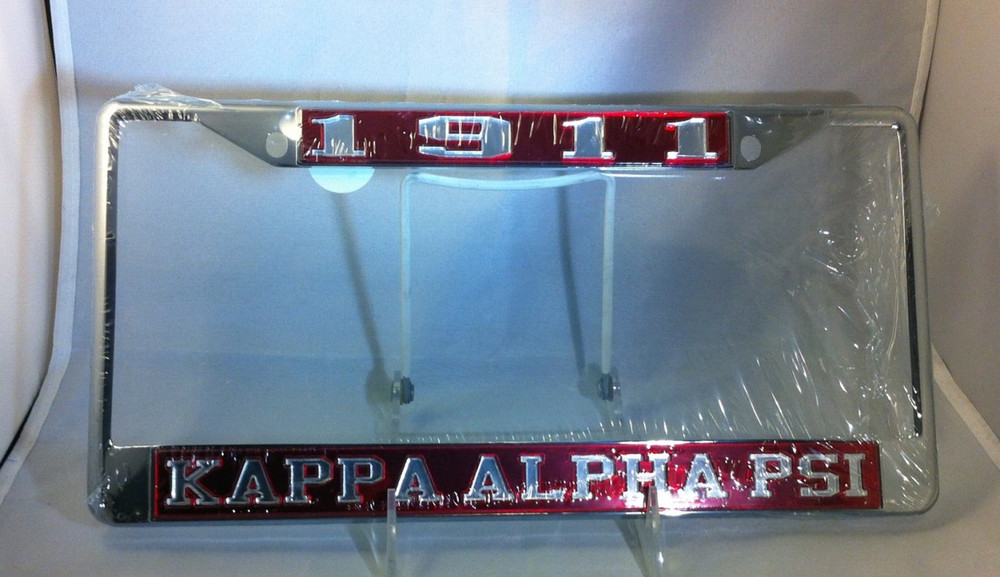 Kappa Alpha Psi Founding Year License Plate Frame Brothers And