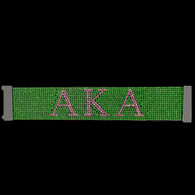 Alpha Kappa Alpha AKA Sorority Bling Bracelet- Green