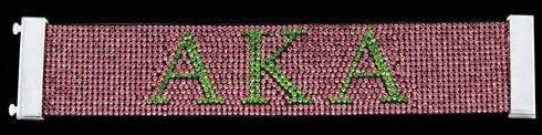 Alpha Kappa Alpha AKA Sorority Bling Bracelet- Pink