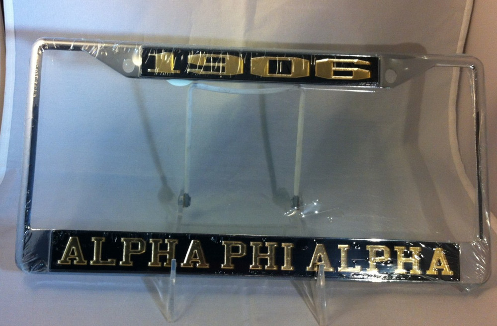 Alpha Phi Alpha Founding Year License Plate Frame