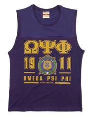 Omega Psi Phi Fraternity Tank Top- Crest