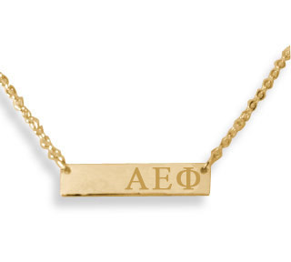 Alpha Epsilon Phi AEPHI Sorority Bar Necklace