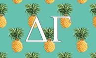 Delta Gamma Sorority Flag-Pineapple