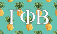 Gamma Phi Beta Sorority Flag-Pineapple