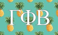 Gamma Phi Beta Sorority Flag-Pineapple
