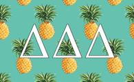 Delta Delta Delta Tri-Delta Sorority Flag-Pineapple