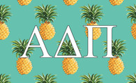 Alpha Delta Pi ADPI Sorority Flag-Pineapple