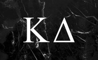 Kappa Delta Sorority Flag-Black Marble