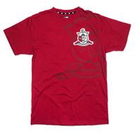 Kappa Alpha Psi Fraternity Crest Shirt-Crimson-Front