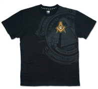 Mason Masonic Symbol Shirt-Black