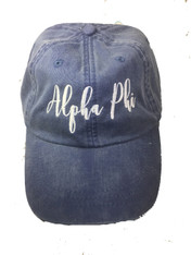 Alpha Phi Sorority Script Hat- True Royal