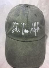 Zeta Tau Alpha Sorority Script Hat- Charcoal