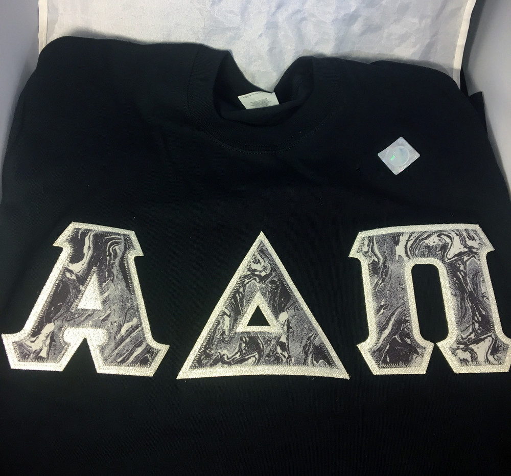 Shirt Inspiration Black Double Stitched Letter Shirt – Black and