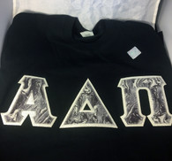 Shirt Inspiration Black Double Stitched Letter Shirt – Black and Gray Marble