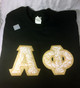 Shirt Inspiration Black Double Stitched Letter Shirt – Gold Rose