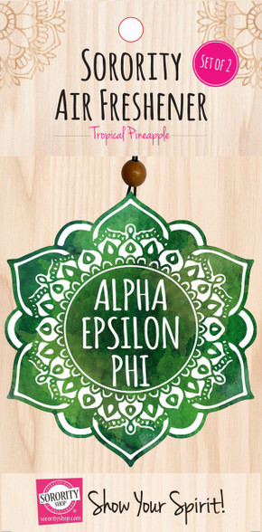 Alpha Epsilon Phi AEPHI Sorority Mandala Air Freshener
