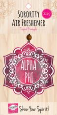 Alpha Phi Sorority Mandala Air Freshener