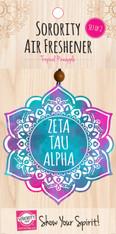 Zeta Tau Alpha ZTA Sorority Mandala Air Freshener