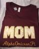 Shirt Inspiration- Gold Rose Pattern Sorority Mom V-Neck Shirt