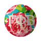 Gamma Phi Beta Sorority Floral Fabric Button with White Writing