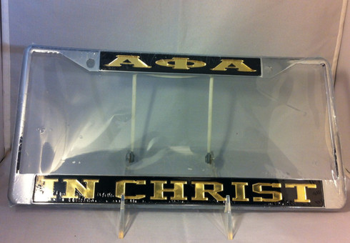 Alpha Phi Alpha Fraternity In Christ License Plate Frame