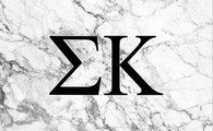Sigma Kappa Sorority Flag- Marble