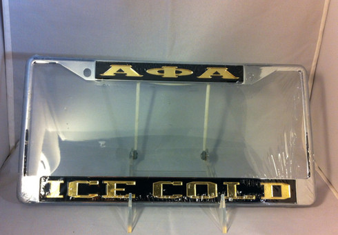 Alpha Phi Alpha Fraternity Ice Cold License Plate Frame