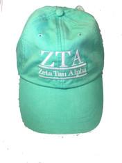 Zeta Tau Alpha ZTA Sorority Hat- Seafoam
