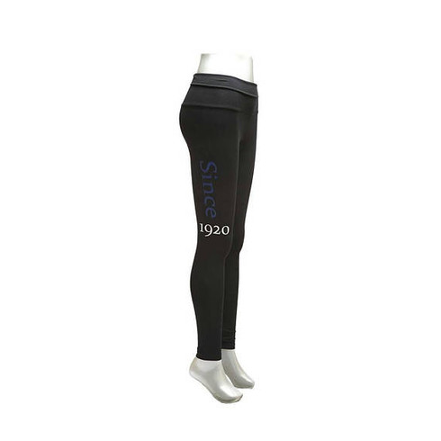 Zeta Phi Beta Sorority Yoga Legging- Black