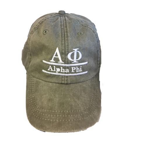 Alpha Phi Sorority Hat- Olive