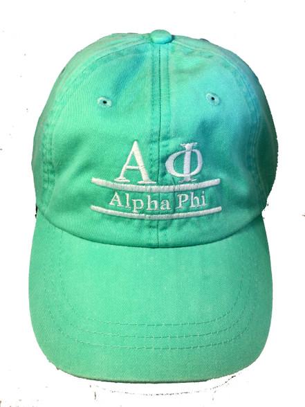 Alpha Phi Sorority Hat- Seafoam