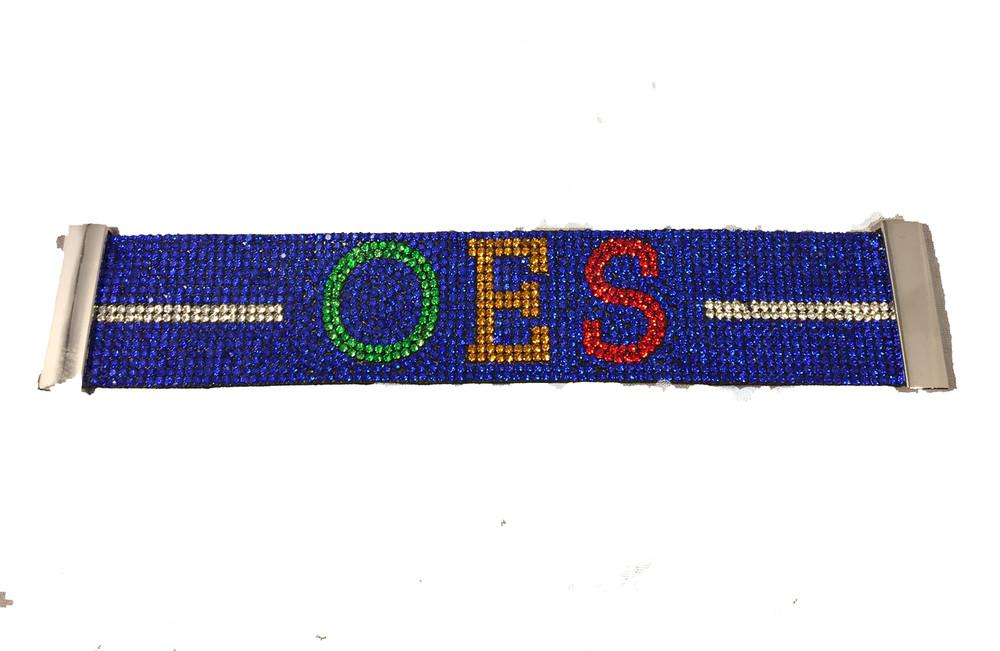Order Of The Eastern Star Oes Bling Bracelet Blue