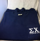 Sigma Chi Fraternity Comfort Colors Shirt- Navy- Front