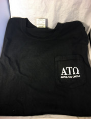 Alpha Tau Omega Fraternity Comfort Colors Shirt- Black-Front