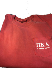 Pi Kappa Alpha PIKE Fraternity Comfort Colors Shirt-Crimson-Front