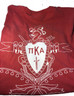 Pi Kappa Alpha PIKE Fraternity Comfort Colors Shirt-Crimson -Back