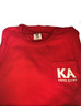 Kappa Alpha Fraternity Comfort Colors Shirt- Red- Front