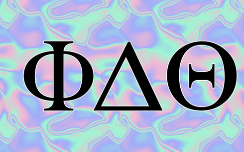 Phi Delta Theta Fraternity Flag- Black Light