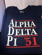 Alpha Delta Pi ADPI Sorority Political Shirt